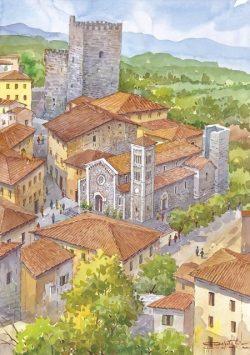 1 Castellina in Chianti - Panorama dall'alto