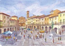 01 Greve in Chianti - Piazza con il monumento a G. da Verrazzano