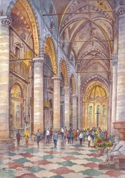 01 Verona - Chiesa di Santa Anastasia (interno)