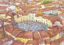 10 Lucca - La bella Piazza Anfiteatro