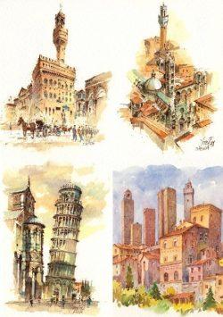 103 Quattro Immagini - Firenze, Siena, Pisa, San Gimignano