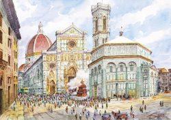 010p Firenze - Piazza Duomo, Lo scoppio del Carro