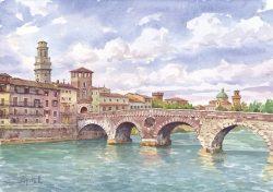12 Verona - Il ponte Pietra