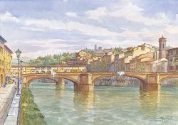 013 Firenze - Panorama dal Ponte S. Trinita