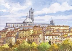 13 Siena - Scorcio panoramico, Il Duomo