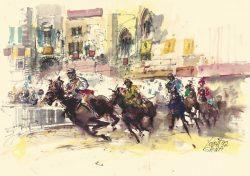 14 Siena - La famosa Corsa del Palio in Piazza del Campo