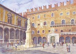 15 Verona - Piazza dei Signori: Loggia del Consiglio e Palazzo del Capitano