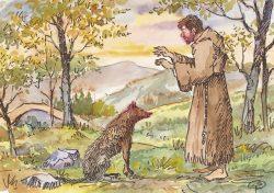 15 Assisi - San Francesco che parla al lupo di Gubbio