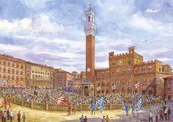 18 Siena - Corteo Storico in Piazza del Campo prima della corsa