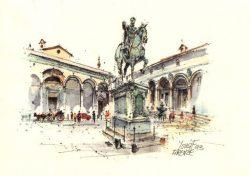 1c FIRENZE - Piazza e Basilica SS. Annunziata