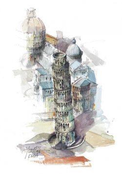 02q Pisa - Campo dei Miracoli, la Torre Pendente