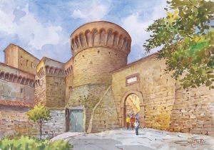 02 Volterra - Torrione del Duca di Atene e porta a Selci