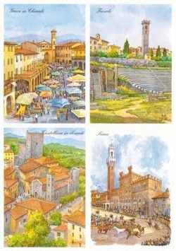 03 Quattro Immagini - Greve in Chianti, Fiesole, Castellina, Siena