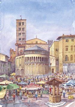 04 Arezzo - Mercato dell'antiquariato in Piazza grande