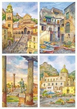 04 Quattro Immagini - Amalfi, Isola di Procida, Pompei, Positano