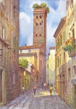 05 Lucca - L'antica Torre Guinigi