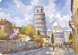 06 Pisa - La Torre che pende... che pende e...