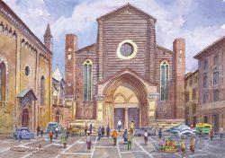 06 Verona - Chiesa di Santa Anastasia e, a sinistra, quella di San Pietro martire