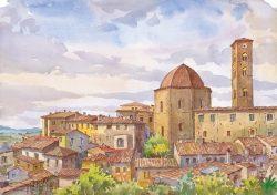 07 Volterra - Battistero e la torre campanaria