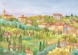 09 Fiesole - La Badia Fiesolana in mezzo al verde