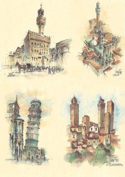 COD: 036q Quattro Immagini - Firenze, Siena, Pisa, San Gimignano