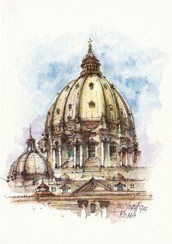 06q Roma - La Cupola di San Pietro