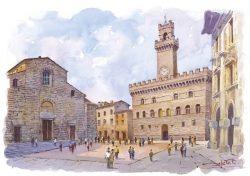 01 Montepulciano - Piazza grande, il Duomo, il Palazzo Comunale