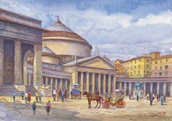 01 Napoli - Piazza del Plebiscito e Chiesa di S. Francesco di Paola