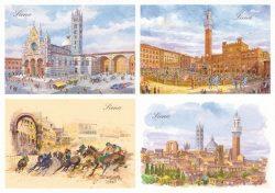 01 Quattro Immagini - Siena, Immagini caratteristiche della città