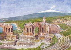 01 Taormina - Teatro Greco-Romano e l'Etna