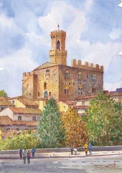 01 Volterra - Scorcio panoramico, il Palazzo dei Priori