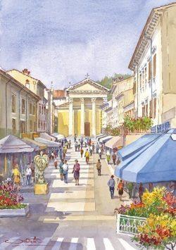 10 Lungo le coste del Garda - Bardolino e la sua piazza principale