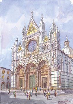 10 Siena - La splendida facciata della Cattedrale