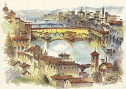 010c Firenze - Panorama con il Ponte Vecchio
