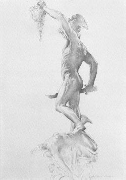 11 Omaggio a B. Cellini: Il Perseo vista tergale