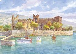 11 Lungo le coste del Garda - Torri del Benaco: Il castello Scaligero