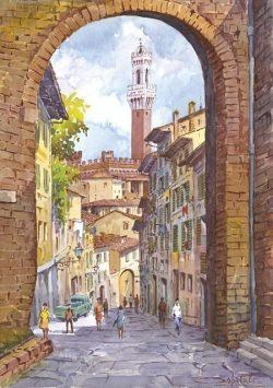 11 Siena - Arco di San Giuseppe e Via della Sapienza
