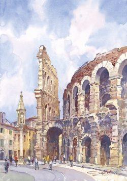 11 Verona - Piazza Brà, l'Arena