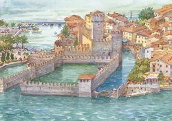 12 Lungo le coste del Garda - Sirmione: Il castello Scaligero