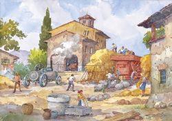 12 Vita Rurale - La battitura del grano