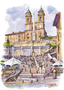 13 Roma - Piazza di Spagna e Trinità dei Monti