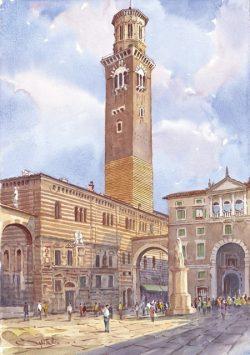 14 Verona - Piazza dei Signori, Torre dei Lamberti