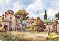 15 Vita Rurale - Case coloniche con pagliaio nell'aia