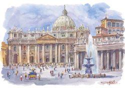 16 Roma - Piazza San Pietro e Basilica