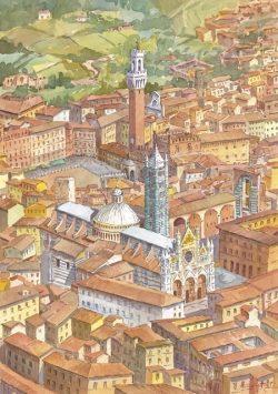 16 Siena - La Cattedrale e la Torre del Mangia