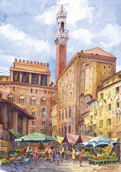 19 Siena - Piazza del mercato