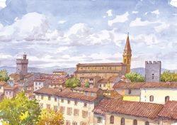 02 Arezzo - Vista particolare della città e il suo Duomo