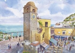 """02 Capri - Vista sul mare da """"La Piazzetta"""""""