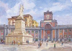 20 Napoli - Piazza Dante e monumento al grande Poeta
