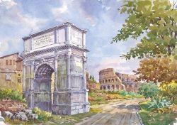 20 Roma - Arco di Tito e Colosseo